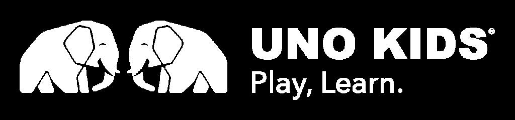 Uno Kids ®Play, Learn | Logo white horizontal